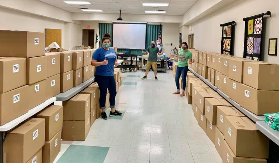 Madison County 4-H Camp at Home Boxes ready for pick up
